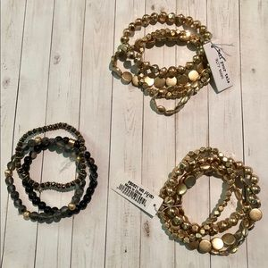Jewelry - NWT Lot Of 3 Bracelets Gold, Black and Gray